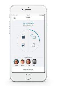 Somfy Protect Home Alarm app per smartphone