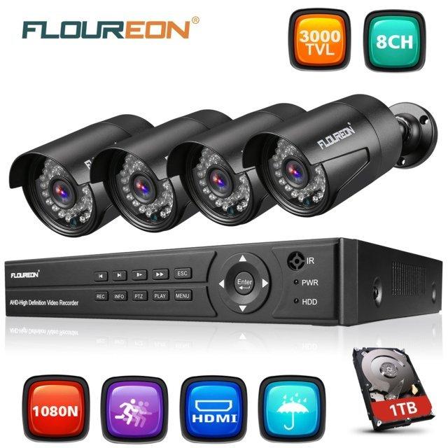 Floureon Kit Videosorveglianza