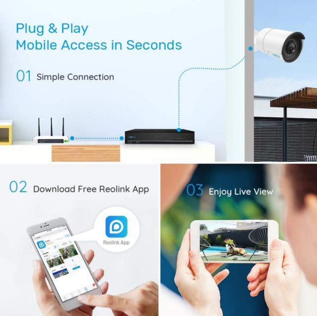 Reolink Kit di videosorveglianza app smartphone